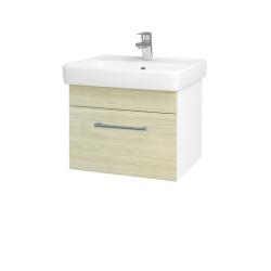 Dreja - Kúpeľňová skriňa Q UNO SZZ 55 - N01 Bílá lesk / Úchytka T03 / D04 Dub (20265C)