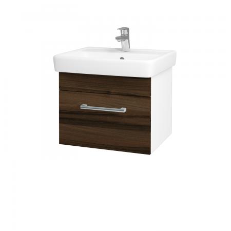 Dreja - Kúpeľňová skriňa Q UNO SZZ 55 - N01 Bílá lesk / Úchytka T03 / D06 Ořech (20258C)