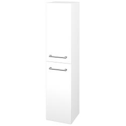 Dreja - Skriňa vysoká DOS SVD2 35 - N01 Bílá lesk / Úchytka T03 / L01 Bílá vysoký lesk / Levé (22351C)