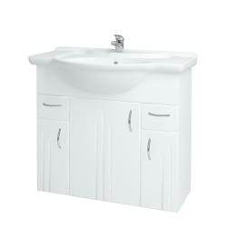 Kúpeľňová skriňa DREJA SZD3Z2  86 - N01 Bílá lesk / L01 Bílá vysoký lesk (12031)