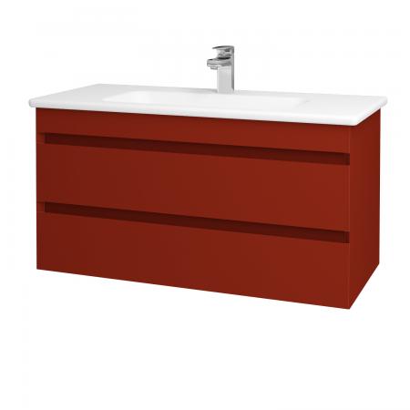 Dreja - Kúpeľňová skriňa MAJESTY SZZ2 100 - L07 Červená vysoký lesk / L07 Červená vysoký lesk (120368)