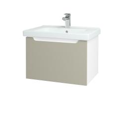 Dreja - Kúpeľňová skriňa COLOR SZZ 65 - N01 Bílá lesk / L04 Béžová vysoký lesk (122973)