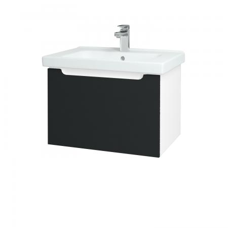 Dreja - Kúpeľňová skriňa COLOR SZZ 65 - N01 Bílá lesk / L03 Antracit vysoký lesk (122966)
