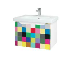 Dreja - Kúpeľňová skriňa COLOR SZZ 65 - N01 Bílá lesk / IND Individual (122980)