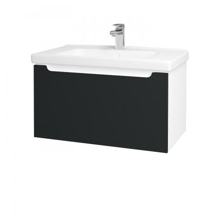 Dreja - Kúpeľňová skriňa COLOR SZZ 80 - N01 Bílá lesk / L03 Antracit vysoký lesk (123000)