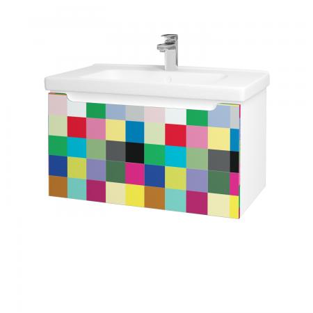 Dreja - Kúpeľňová skriňa COLOR SZZ 80 - N01 Bílá lesk / IND Individual (123024)