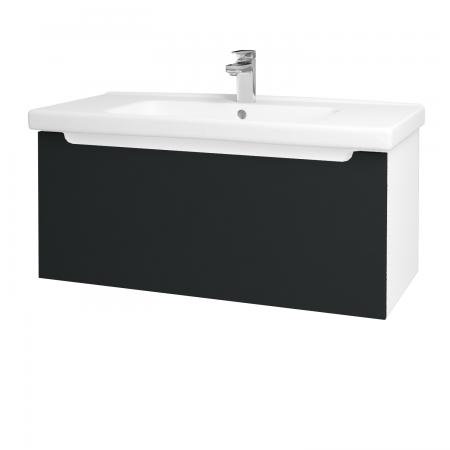 Dreja - Kúpeľňová skriňa COLOR SZZ 100 - N01 Bílá lesk / L03 Antracit vysoký lesk (123048)