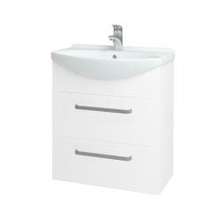 Dreja - Kúpeľňová skriňa TAKE IT SZZ2 65 - N01 Bílá lesk / Úchytka T01 / N01 Bílá lesk (134433A)