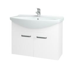 Dreja - Kúpeľňová skriňa TAKE IT SZD2 85 - N01 Bílá lesk / Úchytka T01 / N01 Bílá lesk (133603A)