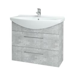 Dreja - Kúpeľňová skriňa TAKE IT SZZ2 85 - D01 Beton / Úchytka T03 / D01 Beton (134037C)