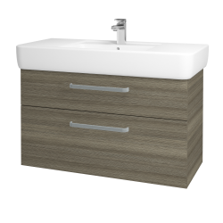 Dreja - Kúpeľňová skriňa Q MAX SZZ2 100 - D03 Cafe / Úchytka T01 / D03 Cafe (132026A)