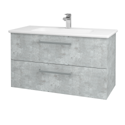 Dreja - Kúpeľňová skriňa GIO SZZ2 100 - D01 Beton / Úchytka T01 / D01 Beton (130626A)