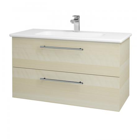 Dreja - Kúpeľňová skriňa GIO SZZ2 100 - D02 Bříza / Úchytka T02 / D02 Bříza (130633B)