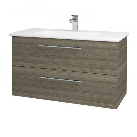 Dreja - Kúpeľňová skriňa GIO SZZ2 100 - D03 Cafe / Úchytka T02 / D03 Cafe (130640B)