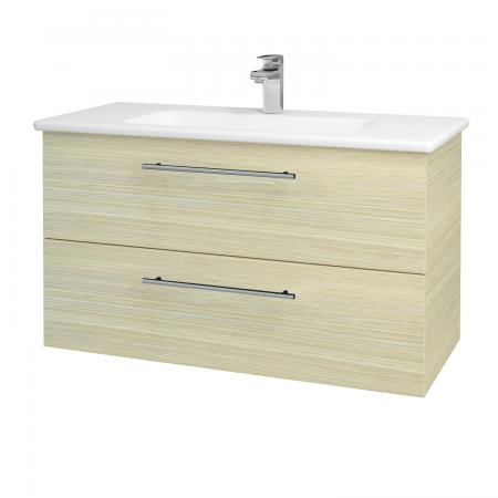 Dreja - Kúpeľňová skriňa GIO SZZ2 100 - D04 Dub / Úchytka T02 / D04 Dub (130657B)