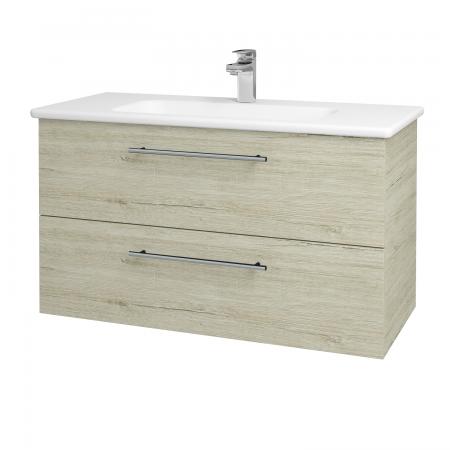 Dreja - Kúpeľňová skriňa GIO SZZ2 100 - D05 Oregon / Úchytka T02 / D05 Oregon (130664B)