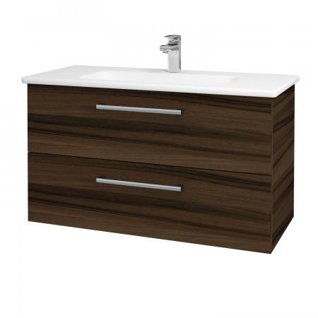 Dreja - Kúpeľňová skriňa GIO SZZ2 100 - D06 Ořech / Úchytka T03 / D06 Ořech (130671C)