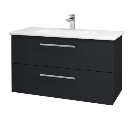 Dreja - Kúpeľňová skriňa GIO SZZ2 100 - L03 Antracit vysoký lesk / Úchytka T03 / L03 Antracit vysoký lesk (130824C)