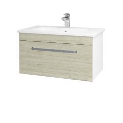 Dreja - Kúpeľňová skriňa ASTON SZZ 80 - N01 Bílá lesk / Úchytka T01 / D05 Oregon (130992A)