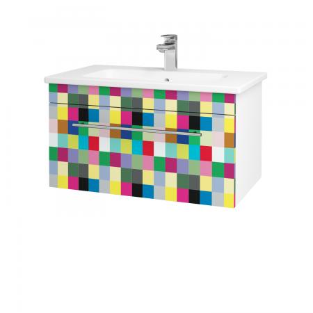 Dreja - Kúpeľňová skriňa ASTON SZZ 80 - N01 Bílá lesk / Úchytka T02 / IND Individual (137465B)
