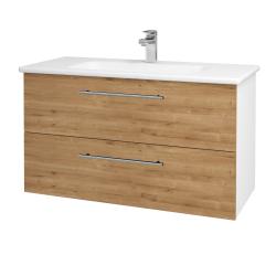 Dreja - Kúpeľňová skriňa GIO SZZ2 100 - N01 Bílá lesk / Úchytka T02 / D09 Arlington (129675B)