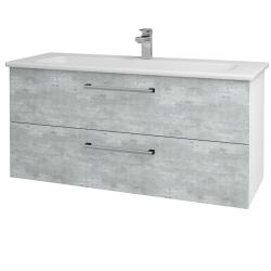 Dreja - Kúpeľňová skriňa GIO SZZ2 120 - N01 Bílá lesk / Úchytka T03 / D01 Beton (129897C)