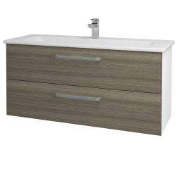 Dreja - Kúpeľňová skriňa GIO SZZ2 120 - N01 Bílá lesk / Úchytka T01 / D03 Cafe (129910A)