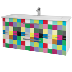 Dreja - Kúpeľňová skriňa GIO SZZ2 120 - N01 Bílá lesk / Úchytka T01 / IND Individual (130022A)
