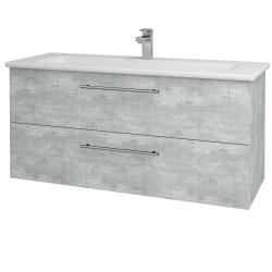 Dreja - Kúpeľňová skriňa GIO SZZ2 120 - D01 Beton / Úchytka T02 / D01 Beton (130039B)