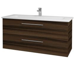 Dreja - Kúpeľňová skriňa GIO SZZ2 120 - D06 Ořech / Úchytka T02 / D06 Ořech (130084B)