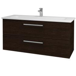 Dreja - Kúpeľňová skriňa GIO SZZ2 120 - D08 Wenge / Úchytka T03 / D08 Wenge (130756C)