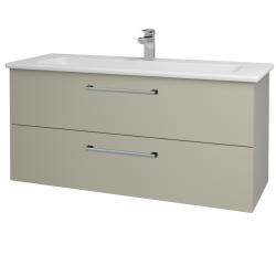 Dreja - Kúpeľňová skriňa GIO SZZ2 120 - L04 Béžová vysoký lesk / Úchytka T03 / L04 Béžová vysoký lesk (130152C)