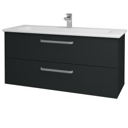Dreja - Kúpeľňová skriňa GIO SZZ2 120 - L03 Antracit vysoký lesk / Úchytka T01 / L03 Antracit vysoký lesk (130145A)