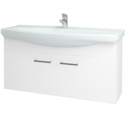 Dreja - Kúpeľňová skriňa TAKE IT SZD2 120 - N01 Bílá lesk / Úchytka T03 / N01 Bílá lesk (133627C)