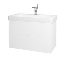 Dreja - Kúpeľňová skriňa VARIANTE SZZ2 85 - N01 Bílá lesk / L01 Bílá vysoký lesk (164188)
