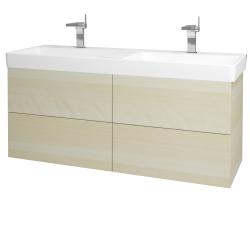 Dreja - Kúpeľňová skriňa VARIANTE SZZ4 130 - D02 Bříza / D02 Bříza (165086)