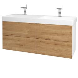 Dreja - Kúpeľňová skriňa VARIANTE SZZ4 130 - N01 Bílá lesk / D09 Arlington (165253)