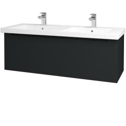 Dreja - Kúpeľňová skriňa COLOR SZZ 125 - L03 Antracit vysoký lesk / L03 Antracit vysoký lesk (146665)