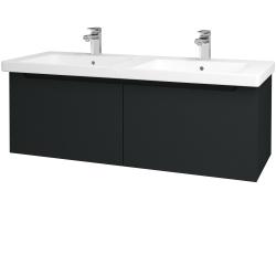 Dreja - Kúpeľňová skriňa COLOR SZZ2 125 - L03 Antracit vysoký lesk / L03 Antracit vysoký lesk (146696)