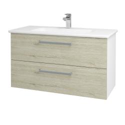 Dreja - Kúpeľňová skriňa GIO SZZ2 100 - N01 Bílá lesk / Úchytka T01 / D05 Oregon (129644A)
