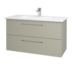 Dreja - Kúpeľňová skriňa GIO SZZ2 100 - L04 Béžová vysoký lesk / Úchytka T02 / L04 Béžová vysoký lesk (129866B)