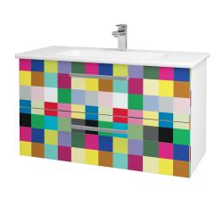 Dreja - Kúpeľňová skriňa GIO SZZ2 100 - N01 Bílá lesk / Úchytka T01 / IND Individual (129736A)