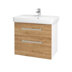 Dreja - Kúpeľňová skriňa Q MAX SZZ2 70 - N01 Bílá lesk / Úchytka T03 / D09 Arlington (115258C)