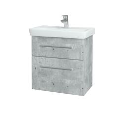 Dreja - Kúpeľňová skriňa GO SZZ2 60 - D01 Beton / Úchytka T03 / D01 Beton (148584C)