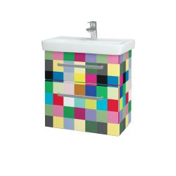 Dreja - Kúpeľňová skriňa GO SZZ2 60 - IND Individual / Úchytka T01 / IND Individual (148645A)