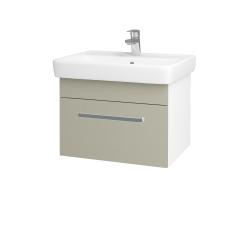 Dreja - Kúpeľňová skriňa Q UNO SZZ 60 - N01 Bílá lesk / Úchytka T01 / L04 Béžová vysoký lesk (150631A)