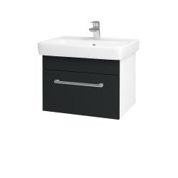 Dreja - Kúpeľňová skriňa Q UNO SZZ 60 - N01 Bílá lesk / Úchytka T03 / L03 Antracit vysoký lesk (150624C)