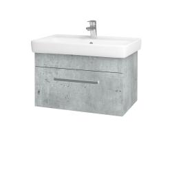 Dreja - Kúpeľňová skriňa Q UNO SZZ 70 - D01 Beton / Úchytka T01 / D01 Beton (150730A)