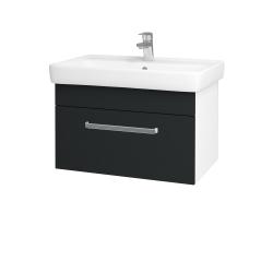 Dreja - Kúpeľňová skriňa Q UNO SZZ 70 - N01 Bílá lesk / Úchytka T01 / L03 Antracit vysoký lesk (150761A)