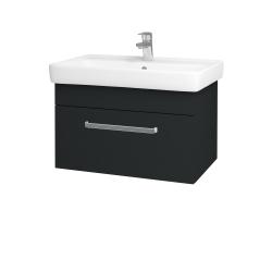 Dreja - Kúpeľňová skriňa Q UNO SZZ 70 - L03 Antracit vysoký lesk / Úchytka T01 / L03 Antracit vysoký lesk (150785A)